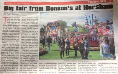 Horsham Funfair – In the News