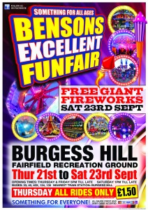 Bensons A2 Poster Burgess Hill