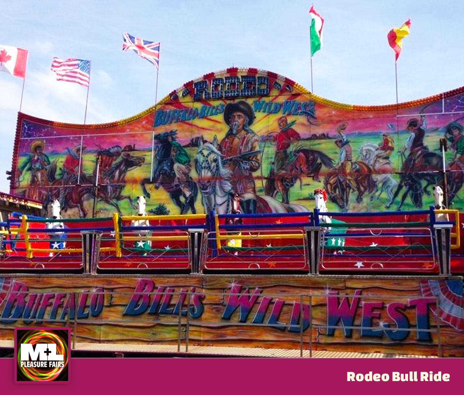 Rodeo Bull Ride Image